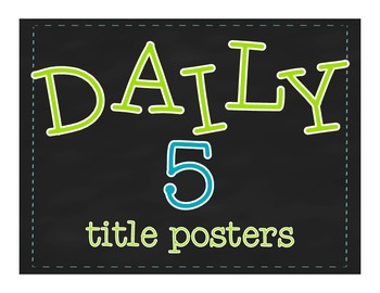 Daily 5 Title Posters {FREEBIE}
