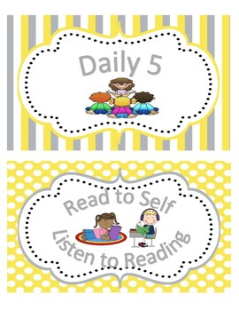 Daily 5 Title Signs