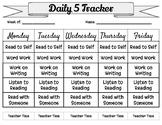 Daily 5 Tracker