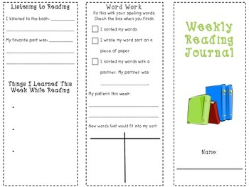 Daily 5 Weekly Reading Brochure- An organizer for students during reading