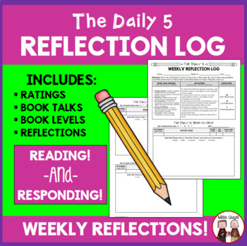 Daily 5 Weekly Reflection Log for Students FREE