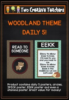 Daily 5: Woodland theme