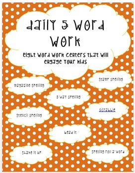 Daily 5 Word Work