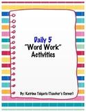 Daily 5 Word Work Activities