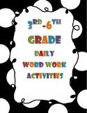 Word Work Activities Grades 3-6