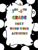 Word Work Activities for Grades 3-6