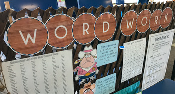 Daily 5 - Word Work Bunting Display Circles