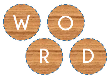 Daily 5 - Word Work Bunting Display Circles