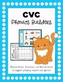 Phonics: CVC Short Vowel Picture Cards & Printable Materials
