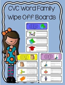 Daily 5 Word Work CVC Wipe Off Boards
