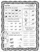 Daily 5 Word Work CVC Word Family Practice Pages