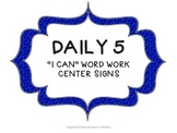 Daily 5 Word Work Center Signs