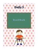 Daily 5 Word Work Centers