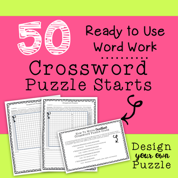 Daily 5 Word Work Crossword Puzzle Starts