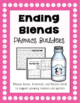 Phonics: Ending Blends Picture Mats & Printable Materials