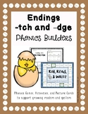 Phonics Builders: Ending -tch and -dge Activities
