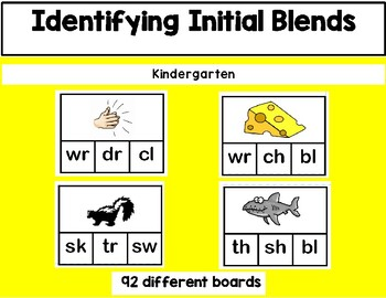 Daily 5 Word Work Identifying Initial Blends Game