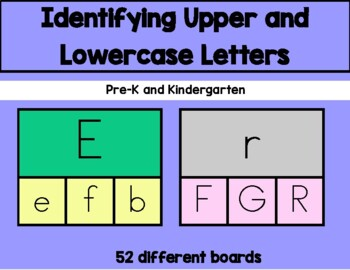 Daily 5 Word Work Identifying Uppercase and Lowercase Letters Game