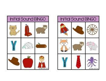 Daily 5 Word Work Initial Sound BINGO:  2 Games!