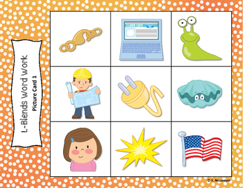 Phonics: L Blends Picture Mats & Worksheets