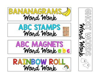 Daily 5 Word Work Labels