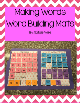 Daily 5 Word Work Making Words Mats