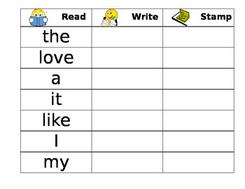 Daily 5 - Word Work - Read, Write, Stamp