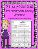 Daily 5 Word Work and Reading Roll and Read Fluency Practice Pages