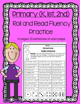 Daily 5 Word Work and Reading Roll and Read Fluency Practi