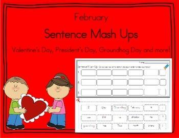Daily 5 Word Work Sentence Mash Ups  February