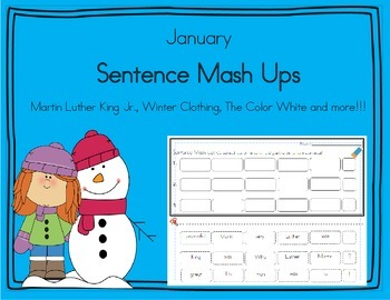 Daily 5 Word Work Sentence Mash Ups  January