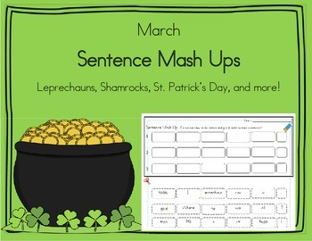 Daily 5 Word Work Sentence Mash Ups  March