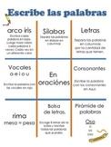 Word Work TIC TAC TOE in SPANISH