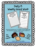 Daily 5 Word Work Worksheet