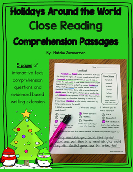 Daily 5 Word Work and Close Reading Comprehension Passages