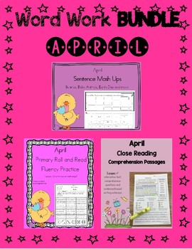 Daily 5 Word Work and Reading BUNDLE:  April