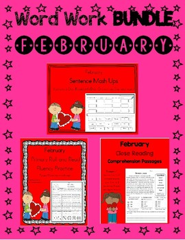 Daily 5 Word Work and Reading BUNDLE:  February