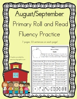 Daily 5 Word Work and Reading Roll and Read Fluency August/September