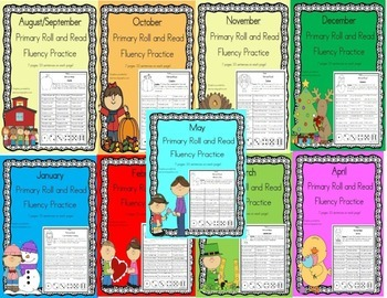 Daily 5 Word Work and Reading Roll and Read Fluency **BUND