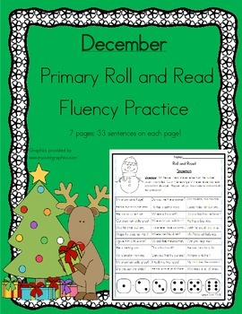 Daily 5 Word Work and Reading Roll and Read Fluency December