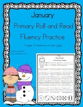 Daily 5 Word Work and Reading Roll and Read Fluency January