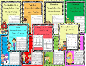 Daily 5 Word Work and Reading Roll and Read Fluency *****MEGA BUNDLE*****