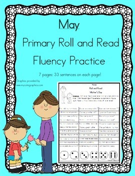 Daily 5 Word Work and Reading Roll and Read Fluency May