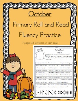 Daily 5 Word Work and Reading Roll and Read Fluency October