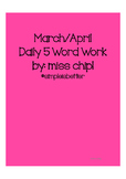 Daily 5 Word Work for Spring