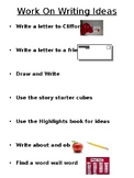 Daily 5 Work On Writing Choice Activity Poster