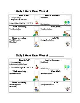 Daily 5 Work Plan