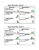 Daily 5 Work Plan