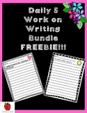 Daily 5 Work on Writing FREEBIE