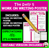 Daily 5 Work on Writing Chart Poster